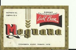 MEGUANA --  LABEL, ETIQUETTE  --  NIS, SERBIA - Bier