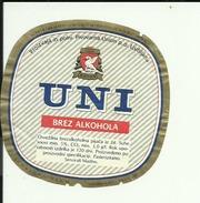 UNI --  NOT ALCOHOL --  LABEL, ETIQUETTE  --  PIVOVARNA UNION, SLOVENIA - Bier