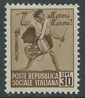 1944-45 RSI MONUMENTI DISTRUTTI 30 CENT MNH ** - P47-3 - 4. 1944-45 Repubblica Sociale