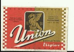 UNION  --  SVETLO PIVO  ,, TRIGLAV ,,  --  LABEL, ETIQUETTE  --  PIVOVARNA  ,,UNION,,, SLOVENIA - Bier
