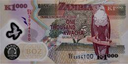 ZAMBIA 1000 KWACHA 2012 P-44i UNC SCARCE! VERY RARE! [ZM146i] - Zambia