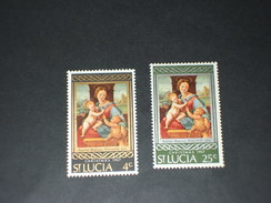 ST. LUCIA - 1967 QUADRI NATALE 2 VALORI  -NUOVI(++) - Ste Lucie (...-1978)