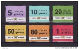 Poland 1998 - Mint MNH ** - Postage Due, Taxe, Portomarken Mi. 169/74 - Pologne Polonia Polen --- 34 - Postage Due