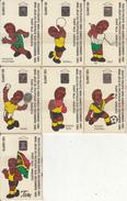 VANUATU - Set Of 7 Cards, South Pacific Mini Games, Tirage 3000-5000, 10/93, Mint - Vanuatu