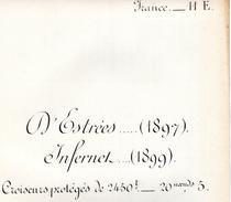 Livret De Marine De Guerre - FRANCE - 14E - D'ESTREES - Vieux Papiers