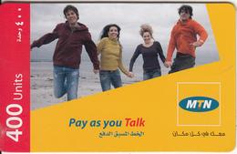 SYRIA - People, MTN Prepaid Card 400 Units, Used