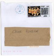 2015--Lettre Avec Vignette MONTIMBRENLIGNE-Voeux 2016---cachet  Néopost - Marcophilie (Lettres)