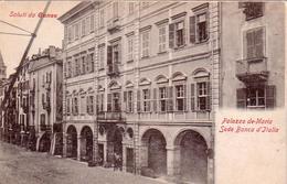 CUNEO-PALAZZO DE MARIA SEDE DELLA BANCA D'ITALIA-CARTOLINA ANNO 1900-1904-RETRO INDIVISO - Cuneo
