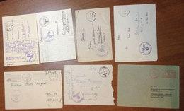 2227 - 7 Briefe + Vers. Feldpost Stempel - Allemagne