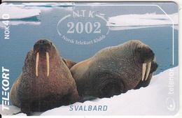 SVALBARD ISL.(chip) - Walrus(234), NTK 2002, Tirage 400, 02/02, Used - Svalbard