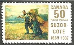 Sc. #492 Suzor-Cote, Return From The Harvest Field Single Used 1969 K738 - 1952-.... Règne D'Elizabeth II