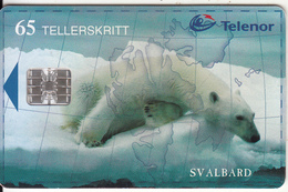 SVALBARD ISL.(chip) - Polar Bear(140), Tirage 17000, 02/99, Used