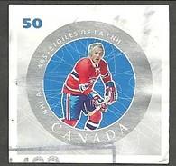 Sc. #2086a NHL All-Stars, Henri Richard Booklet Single Used 2005 K742 - 1952-.... Règne D'Elizabeth II