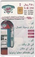 YEMEN(chip) - Alo Cardphone, Calendar 2002, 12/01, Used