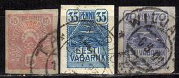 ESTLAND 1919 - MiNr: 9-11 Komplett  Used - Estland