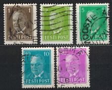 ESTLAND 1936 - MiNr: 113-119 Lot 5x Used - Estland