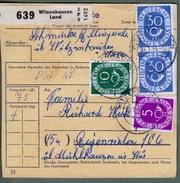 """Bund: Paketkarte Mit Paar Mi-Nr. 132, 125, 128: """" Dauerserie Posthorn """" !    X - Used Stamps"""