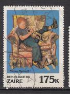 ##5, Zaire, Norman Rockwell, Trompette, Trumpet, Musique, Music, Chien, Dog, Fauteuil, Chair - Zaïre