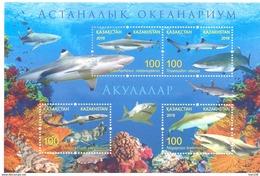 2016. Kazakhstan, Astana Aquariun, Sharks, S/s,  Mint/** - Kazakhstan