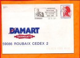 """ARDECHE, Serrières, Flamme SCOTEM N°7952, """"cinquantenaire Musée Des Mariniers De La Batellerie"""" - Marcophilie (Lettres)"""