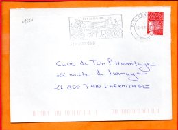 """ARDECHE, Saint Peray, Flamme SCOTEM N°18594, """"sur La RN86"""" - Postmark Collection (Covers)"""