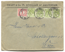 NETHERLANDS - AMSTERDAM, Memorandum Cover SWART & Co. 1908. - Periode 1891-1948 (Wilhelmina)