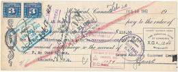 CANADA / KANADA - Montreal - 1942 ,  The Canadian Bank Of  Commerce - Schecks  Und Reiseschecks