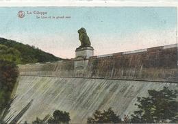 LA GILEPPE . LE LION ET LE GRAND MUR . CARTE COLORISEE NON ECRITE - Gileppe (Barrage)