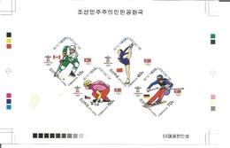Korea DPR (North) 2010 Olympics Vancouver Sporty  COMBO PROOF [PRINT:50]] [épreuve Prueba Druckprobe Prova]