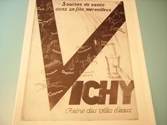 ANCIENNE PUBLICITE VICHY (souces De Sante) 1930 - Posters