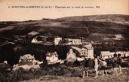 ST MICHEL EN GREVES -22- PANORAMA SUR LA ROUTE DE LANNION - Saint-Michel-en-Grève