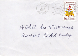 N°2202 Sur Lettre Avec Chiffre Sept Manquant Sur La Corse Pas Courant Sur Lettre!! - Briefe U. Dokumente