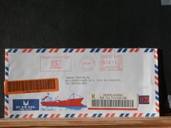 A6900   LETTRE RECOMM. HONG KONG FLAMME ROUGE 1999 - 1997-... Speciale Bestuurlijke Regio Van China