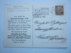 1938 , Propagandakarte Mit Zudruck Betriebsführer , Sehr Selten - Deutschland