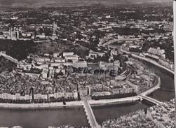 PHOTO AERIENNE RARE,PAR LAPIE SERVICE AERIEN,AOUT 1956,RHONE,LE GRAND LYON,QUARTIER SAINT JEAN - Places