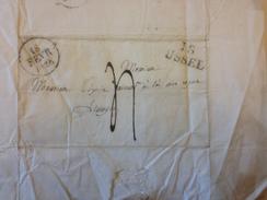 LETTRE, 1828, Postée A USSEL, Corrèze, Pour Limoges, Hte Vienne - 1801-1848: Precursori XIX