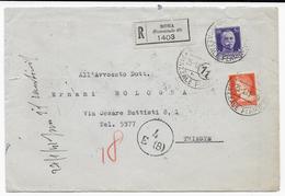 STORIA POSTALE REGNO -  BUSTA RACCOMANDATA CENSURATA DA MINISTERO MARINA - 1900-44 Vittorio Emanuele III