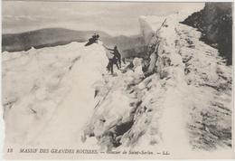 CPA:   MASSIF  DES  GRANDES  ROUSSES (Dpt.38):    Glacier De Saint-Sorlin.      (C 288n) - Escalade
