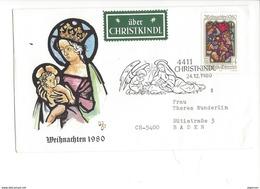 16040 - Christkindl Cover 24.12.1980 Pour Baden CH Weihnachten 1980 + über Christkindl - Noël