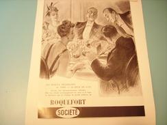 PUBLICITE ROQUEFORT SOCIETE - Posters