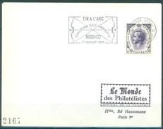 MONACO -FLAMME - 11.1.1971 -TIR A L'ARC RAINIER III  -  Lot 15082 - Postmarks