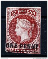 A3388) St. Helena One Penny / 6 Pence Unused (*) Ohne Gummi No Gum - St. Helena