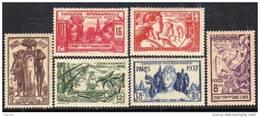 Inde N° 109 / 14  XX  Exposition Internationale De Paris La Série Des 6 Valeurs Sans Charnière, TB