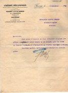 VP7261 - Lettre - Crédit Fécampois - Maison FLEURET & Vve A.LEGROS à FECAMP - Bank & Insurance