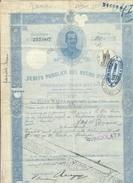 Debito Pubblico Del Regno D'italia 1922 Certificato Ben Conservato Cod.doc.251 - Documenti Storici