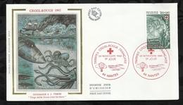 CROIX ROUGE FRANCAISE . HOMMAGE A JULES VERNE. VINGT MILLE LIEUES SOUS LES MERS . 20 NOVEMBRE 1982 . NANTES . - FDC