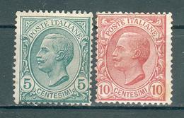 ITALIE ; ITALY ; 1906 ; Y&T N° 76-77 ; Neuf - 1900-44 Victor Emmanuel III