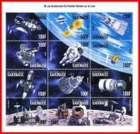 GABON 1999USA & RUSSIA In SPACE/ ASTRONOMY  M/S SC#937  MNH ** Postfrisch - Otros