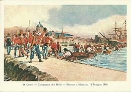 Garibaldini, Campagna Dei Mille, Sbarco A Marsala, 11 Maggio 1860, Illustrazione Di Q. Cenni, Francobolli Nuovi - Patriottiche