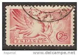España U 0879 (o) Pegaso Con Pie De Imprenta. 1939 - 1931-50 Usati